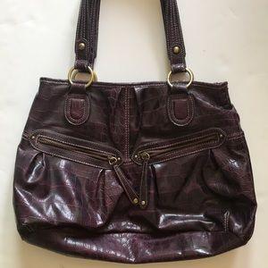 Purple Snakeskin Shoulder bag Purse by Elle